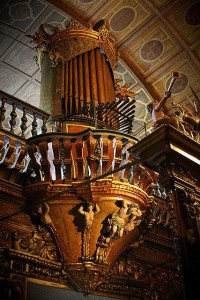 The organ at the Benedictine Monastery in Rio de Janeiro
