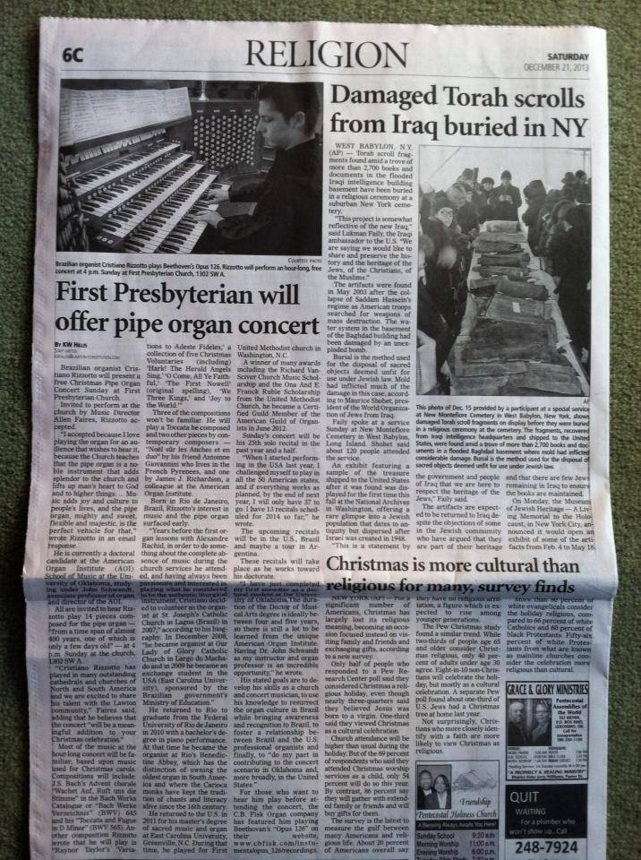 First-Presbyterian-will-offer-pipe-organ-concert-Lawton-OK-Oklahoma-Cristiano-Rizzotto