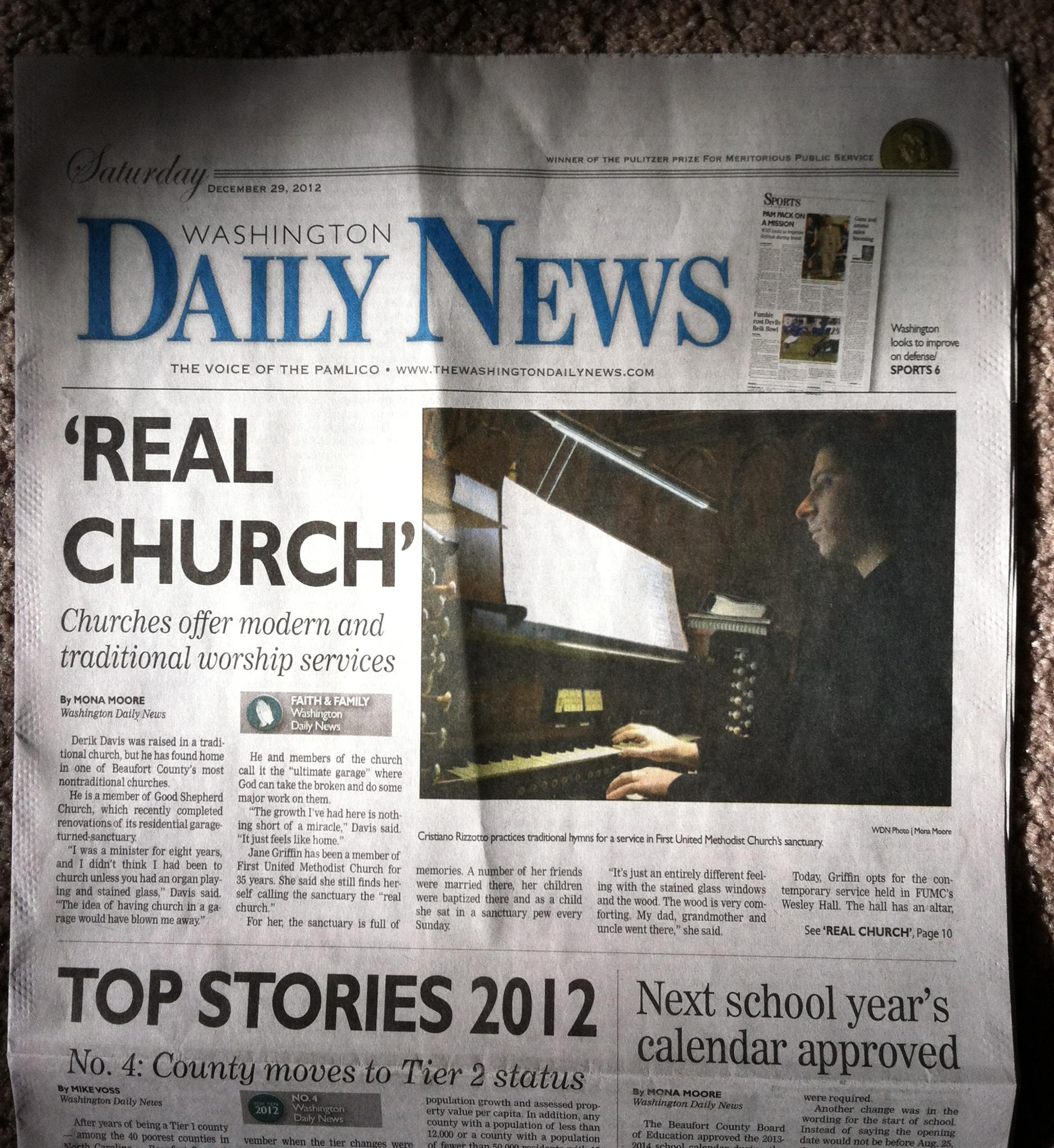 Washington Daily News - Real Church - Churches offer modern and traditional worship services - Cristiano Rizzotto