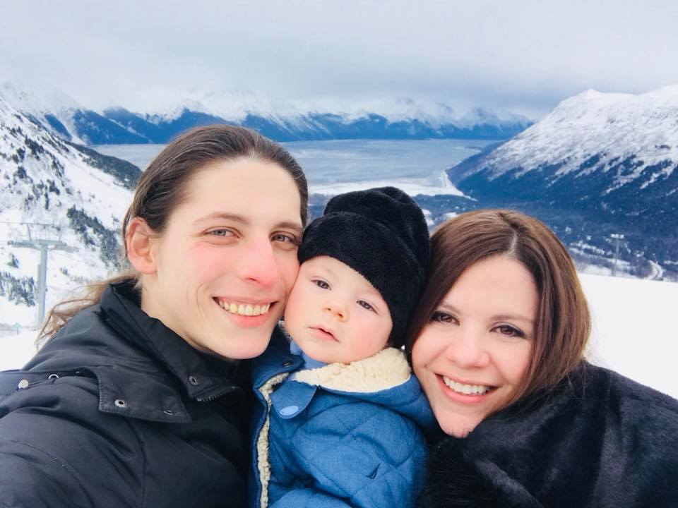 Cristiano, Kristian Walter, and Clara Rizzotto in Girdwood, Alaska