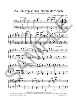 Cristiano Rizzotto – Ao Contemplar uma Imagem da Virgem (Solo Piano)