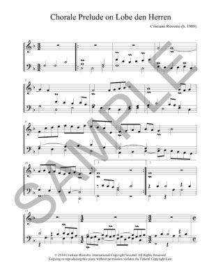 Cristiano Rizzotto – Chorale Prelude on Lobe den Herren (Organ)
