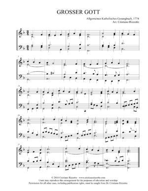 GROSSER GOTT Hymn Reharmonization – Cristiano Rizzotto