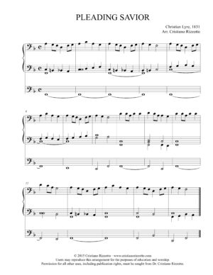 PLEADING SAVIOR Hymn Reharmonization – Cristiano Rizzotto