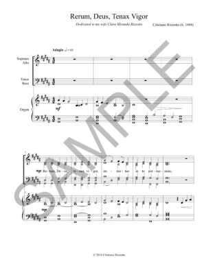 Cristiano Rizzotto – Rerum, Deus, Tenax Vigor (SATB Choir & Organ)