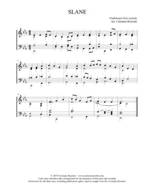 SLANE Hymn Reharmonization, Arrangement by Dr. Cristiano Rizzotto