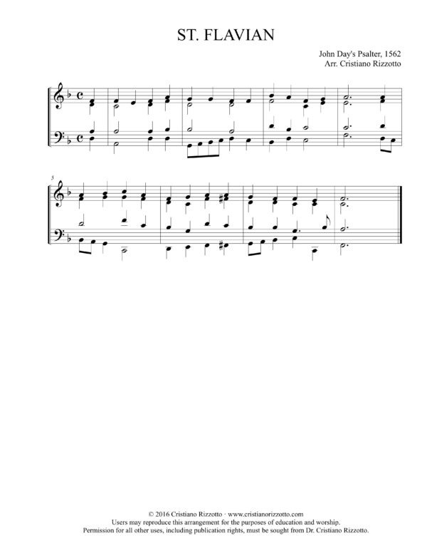 ST. FLAVIAN Hymn Reharmonization – Cristiano Rizzotto