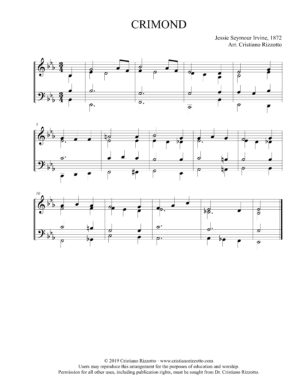 CRIMOND Hymn Reharmonization, Arrangement by Dr. Cristiano Rizzotto (Dr. Kris Rizzotto)