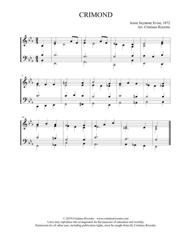 CRIMOND Hymn Reharmonization, Arrangement by Dr. Cristiano Rizzotto (Dr. Kris Rizzotto)