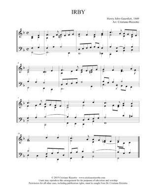 IRBY Hymn Reharmonization, Arrangement by Dr. Cristiano Rizzotto (Dr. Kris Rizzotto)