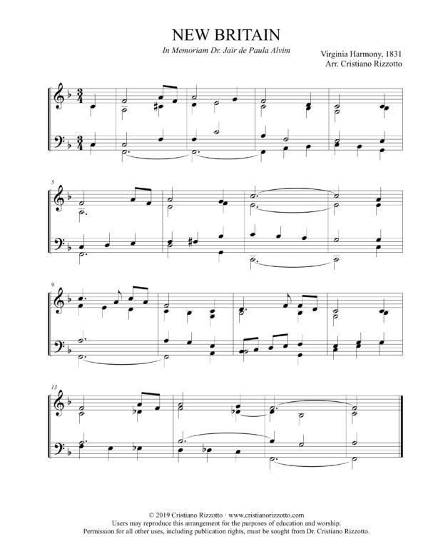 NEW BRITAIN Hymn Reharmonization, Arrangement by Dr. Cristiano Rizzotto (Dr. Kris Rizzotto)