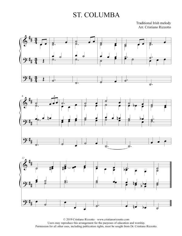 ST. COLUMBA Hymn Reharmonization, Arrangement by Dr. Cristiano Rizzotto (Dr. Kris Rizzotto)