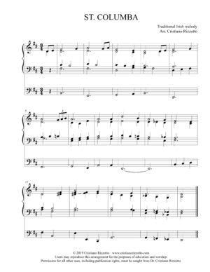 ST. COLUMBA Hymn Reharmonization, Arrangement by Dr. Cristiano Rizzotto (Dr. Kris Rizzotto)