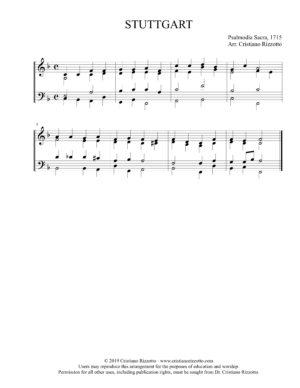 STUTTGART Hymn Reharmonization, Arrangement by Dr. Cristiano Rizzotto (Dr. Kris Rizzotto)