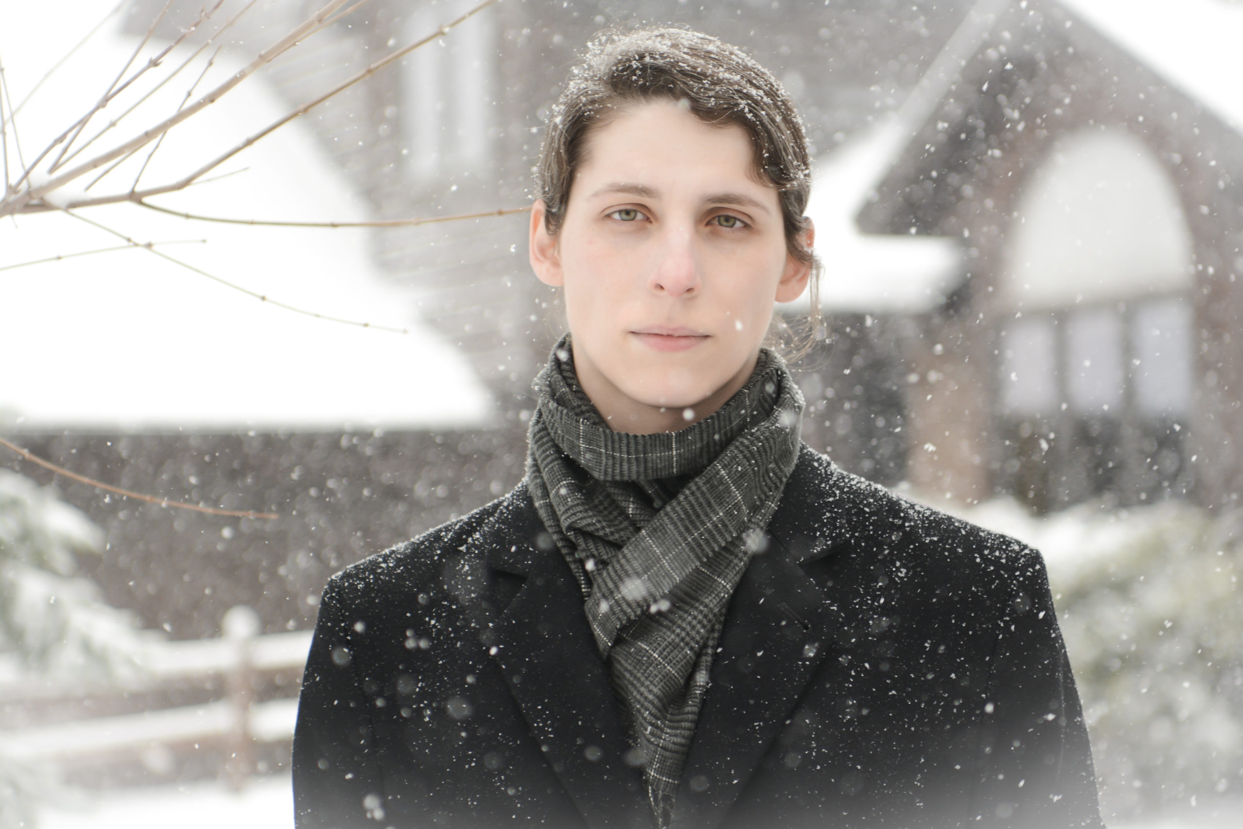 Transgender organist and composer Dr. Kris Rizzotto on a snowy Easter Sunday in Minnesota