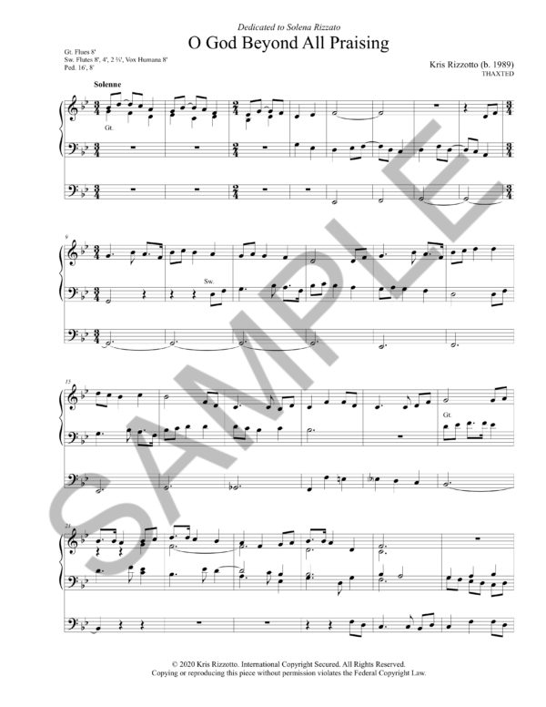 O God Beyond All Praising (THAXTED) Hymn Introduction – Arrangement by Dr. Kris Rizzotto